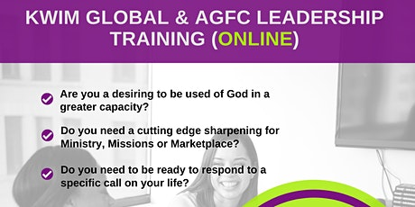 KWIM GLOBAL & AGFC LEADERSHIP TRAINING (NOV. 2020) tickets