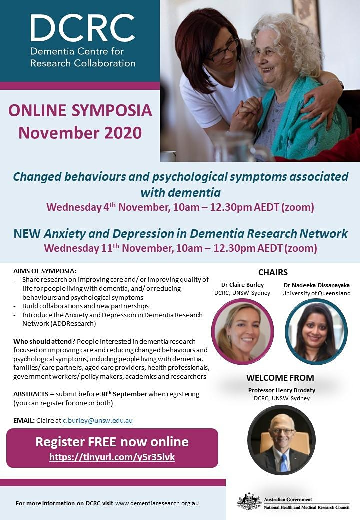 Changed behaviours and psychological symptoms in dementia ONLINE SYMPOSIA image