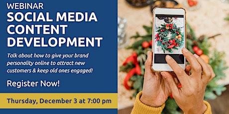Social Media - Content Development tickets