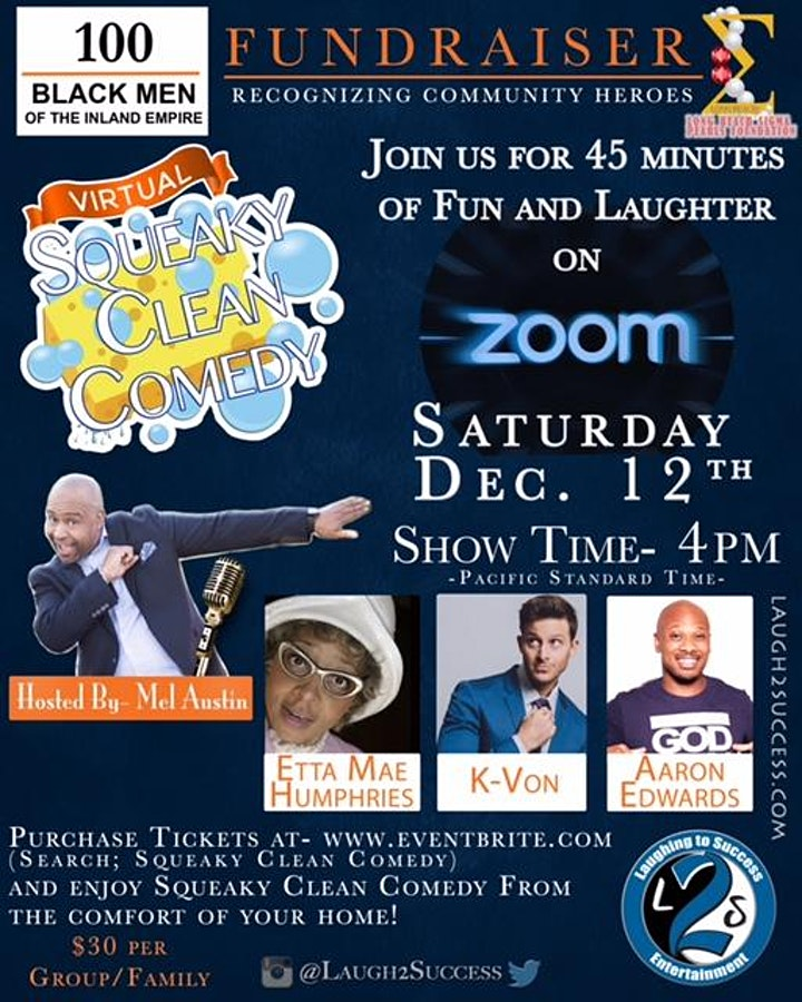 """Squeaky Clean Comedy Show Fundraiser """"Recognizing Community Heroes"""" image"""
