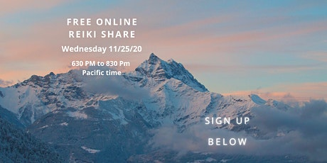 100% Peaceful 100% Soothing 100% Free Online Reiki Share tickets