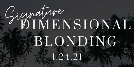 Dimensional Blonding with Becca tickets