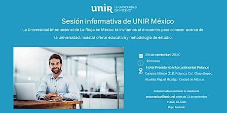 Sesión Informativa UNIR México CDMX Polanco boletos