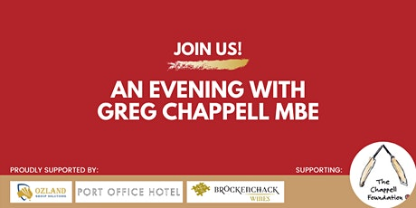Evening with Greg Chappell MBE (Sponsors Page) tickets