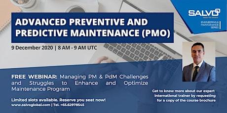 Advanced Preventive and Predictive Maintenance (PMO) tickets