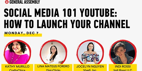 [SOCIAL MEDIA 101] YOUTUBE: HOW TO LAUNCH YOUR CHANNEL tickets