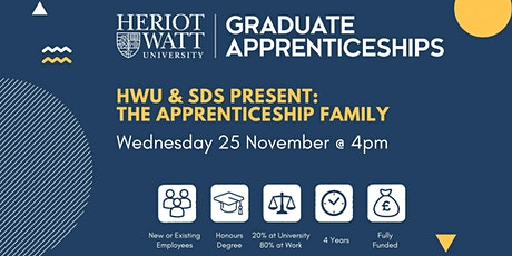 Heriot-Watt & SDS present: The Apprenticeship Family tickets