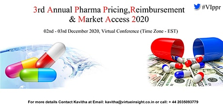 3rd Annual Pharma Pricing, Reimbursement & Market Access 2020 tickets