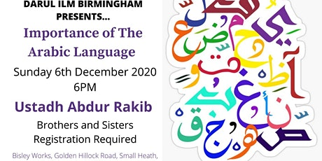 Importance of the Arabic Language tickets