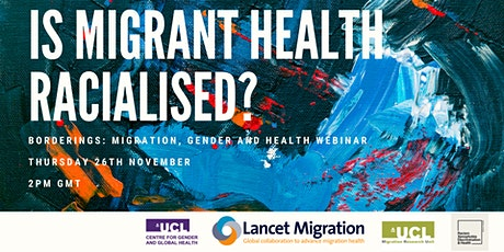 Is Migrant Health Racialised? tickets