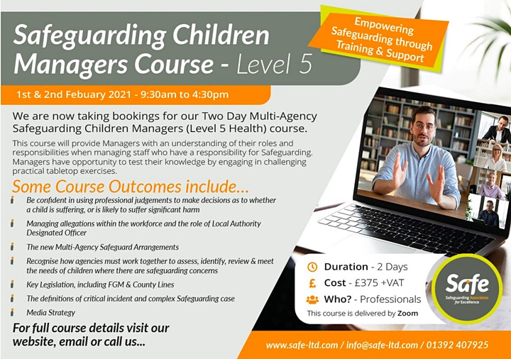 Safeguarding Children Manager's Course (Level 5) image