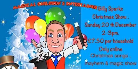 Billy Sparks Mayhem & Magic Christmas show 2020 tickets