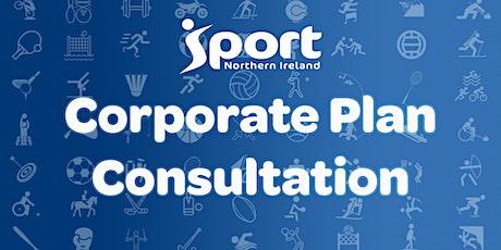 Sport NI Corporate Plan 2020-25 Consultation tickets