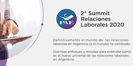 2° Summit de Relaciones Laborales 2020 PAE entradas
