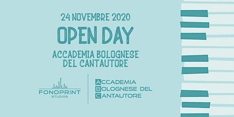 Open Day Accademia Bolognese del Cantautore 2021 biglietti