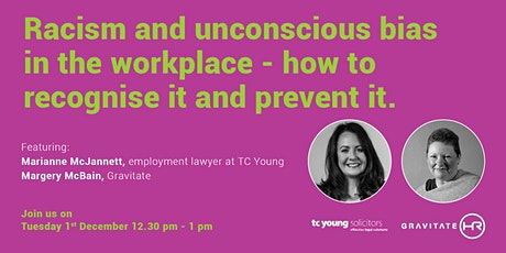 Workplace racism and unconscious bias - how to recognise it and prevent it. tickets