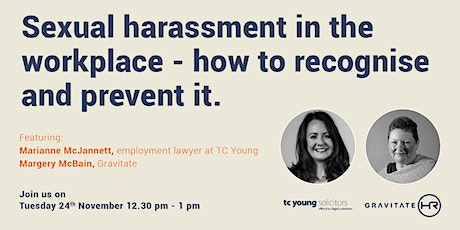 Sexual harassment in the workplace - how to recognise and prevent it. tickets