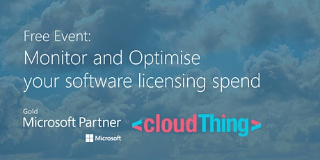 Monitor and Optimise your Software Licensing spend with cloudThing tickets