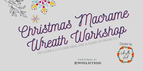 Christmas Macramé Wreath Workshop tickets