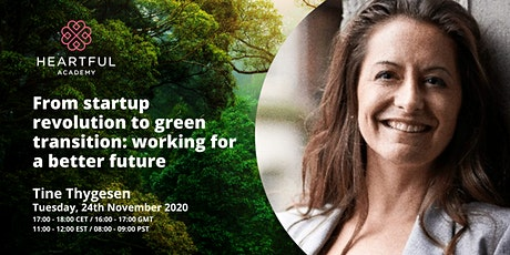 From startup revolution to green transition: working for a better future tickets