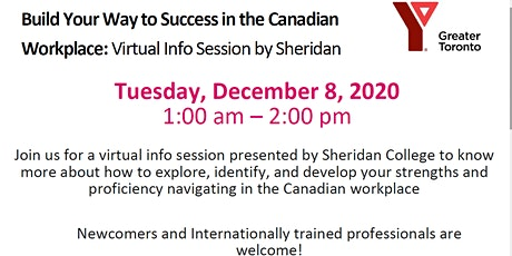 Build Your Way to Success in the Canadian Workplace - Virtual Info Session tickets