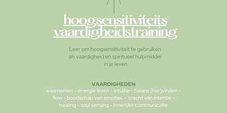Hoogsensitiviteits Vaardigheids Training/High Sensitivity Skills Training tickets