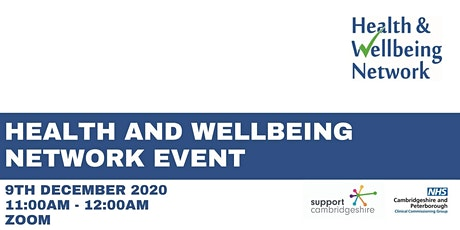 Health and Wellbeing Network : General update and chat tickets