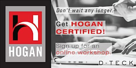 Hogan Certification & Adv. Feedback - Online - August 2021 tickets