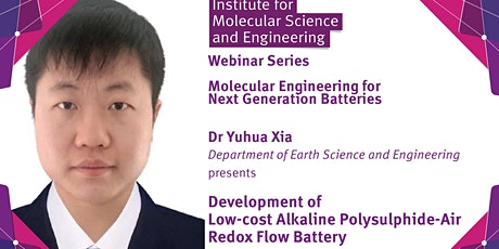 Development of Low-cost Alkaline Polysulphide-Air Redox Flow Battery tickets