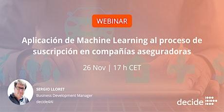 Aplicación de Machine Learning al proceso de suscripción de pólizas entradas