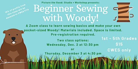 Beginner Sewing with Woody! tickets