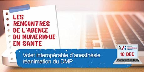 Volet interopérable d'anesthésie réanimation du DMP billets