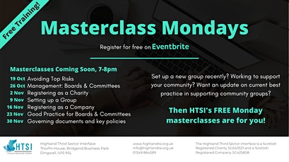 Masterclass Monday -  Governing documents and key policies tickets