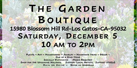 The Garden Boutique tickets