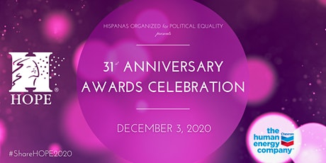 31st Anniversary Awards Celebration tickets