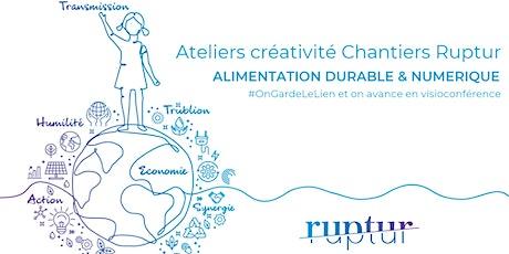 Ateliers Créativité Chantiers Ruptur : ALIMENTATION DURABLE & NUMERIQUE billets