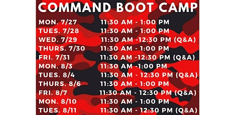 Command Bootcamp - November tickets
