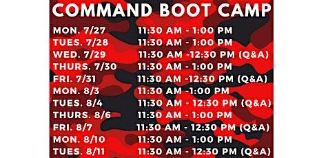 Command Bootcamp - November tickets