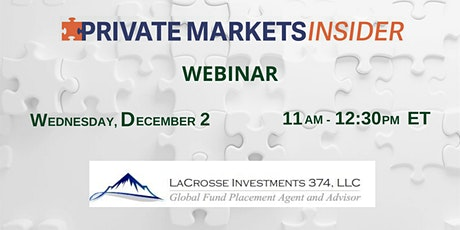 Private Markets Insider Webinar tickets