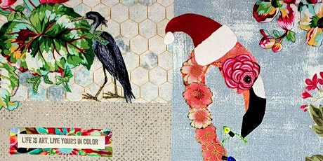 Christmas Flamingo Collage Class tickets