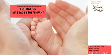 Formation massage bébé/enfant (22h30) tickets