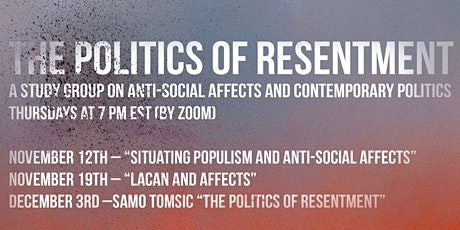 The Politics of Resentment Study Group tickets
