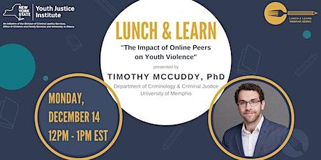 YJI Lunch & Learn Webinar with Dr. Timothy McCuddy tickets
