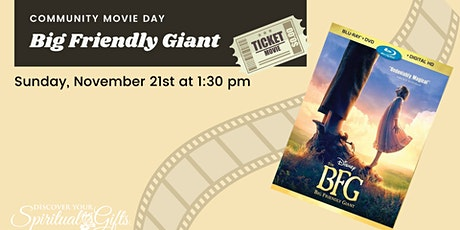Family Movie Day: BFG (Big Friendly Giant) tickets