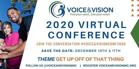 Voice and Vision 2020 Virtual Conference tickets