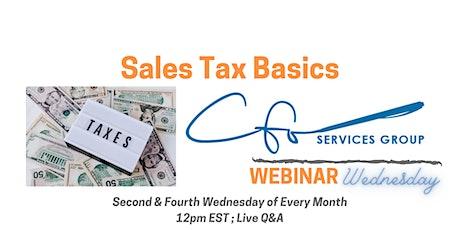 Webinar Wednesday: Sales Tax Basics tickets