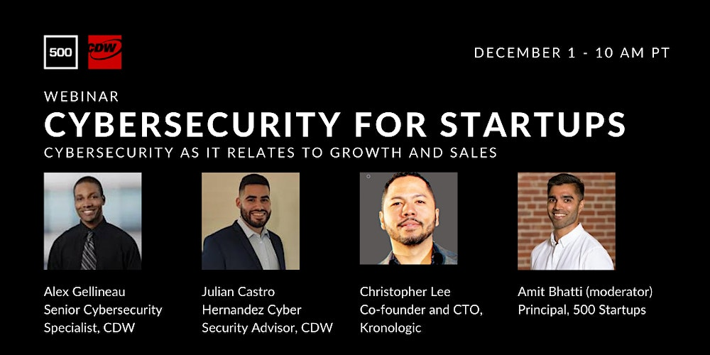Organizer of Cybersecurity for Startup Growth and Sales