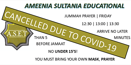 Jummah Jamaat - Friday 27th November 2020 tickets