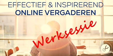 Werksessie Online Vergaderingen 9 november tickets