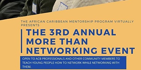 3rd Annual More Than Networking virtual event tickets